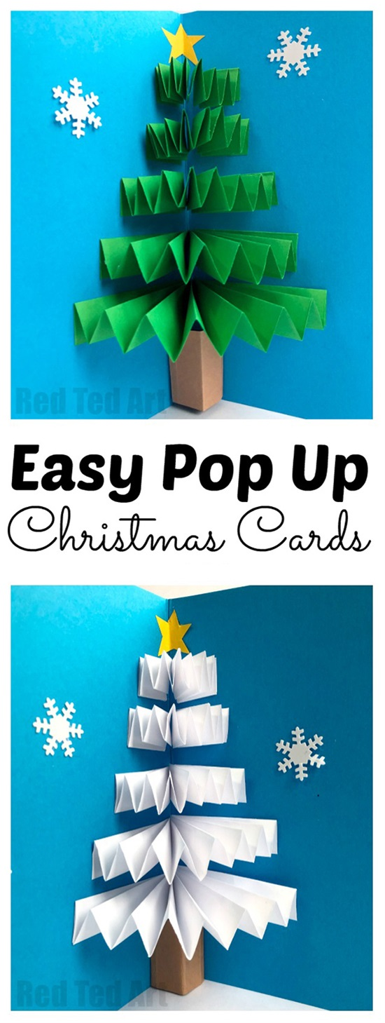 Pop up christmas cards to make easy video tutorial via m4hsunfo