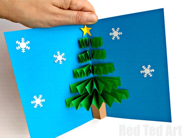 pop up christmas cards to make