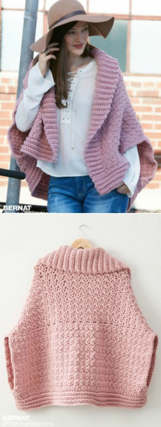 Crochet Cocoon Shrug Pattern Ideas | The WHOot