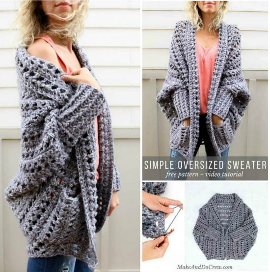 c2bc9c9d0 Oversized Chunky Sweater Pattern Gorgeous Crochet Ideas