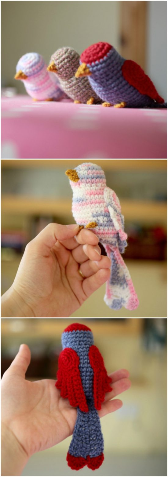 Crochet Bird Patterns Easy DIY Video Instructions