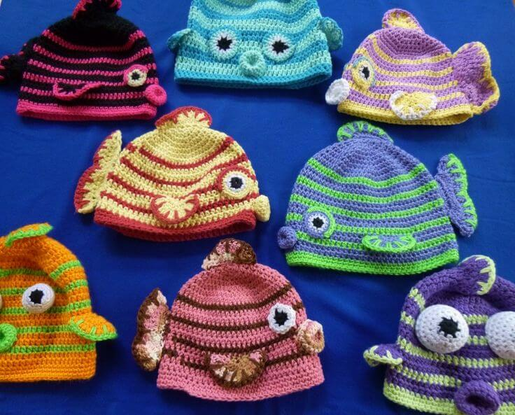 005a1b39d Crochet Fish Hats Lots Of Free Patterns Video Instructions