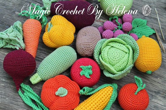 Amigurumi Vegetable Patterns : Crochet fruit and vegetable patterns all the best ideas