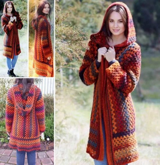 Crochet Hooded Jacket Pattern Free Video Tutorial Inspiration Crochet Long Cardigan Pattern