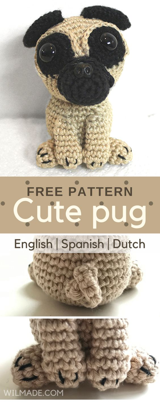 Pug Dog Crochet Pattern Lots Of Ideas Video Tutorial