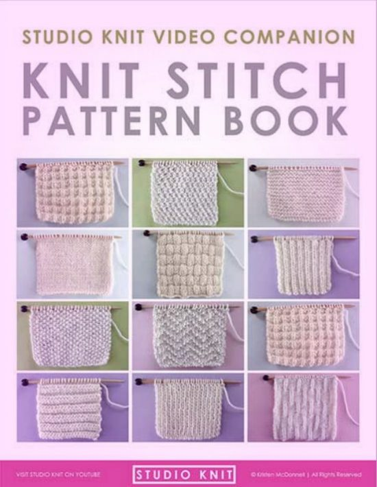 Knit And Purl Stitch Patterns Video Instructions Studio Knit