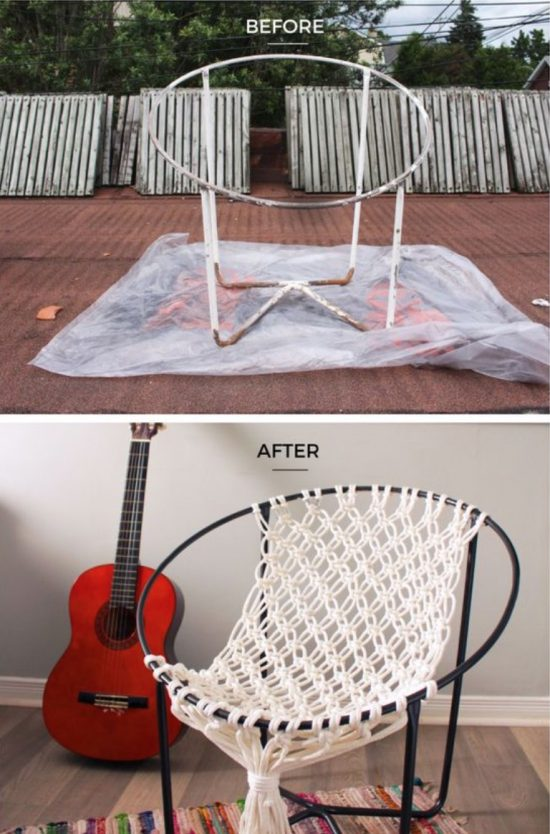 Macrame hanging chair diy is super easy to make for Hanging round hammock