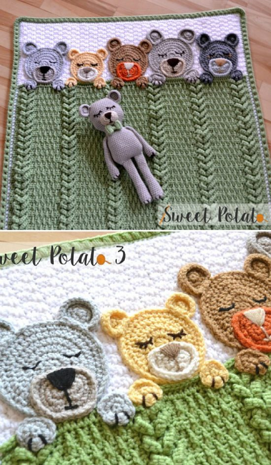Goodnight Bear Free Crochet Patterns | 941x550