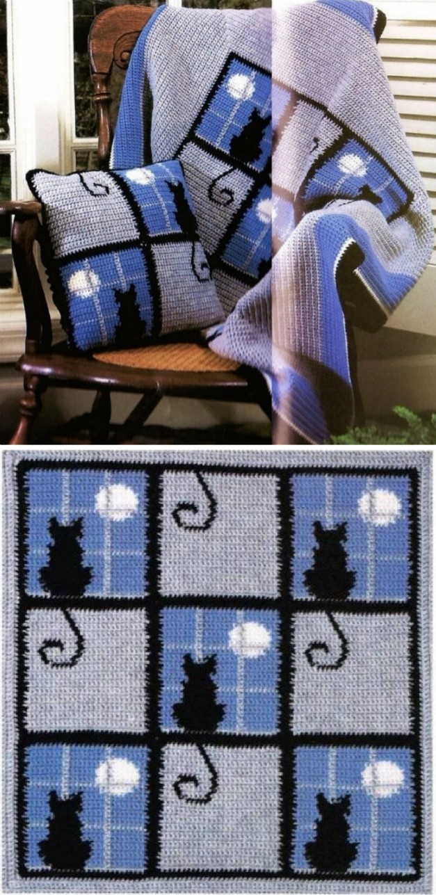 Crochet Cat Blanket Patterns The Whoot