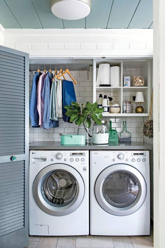 small laundry room organizing ideas