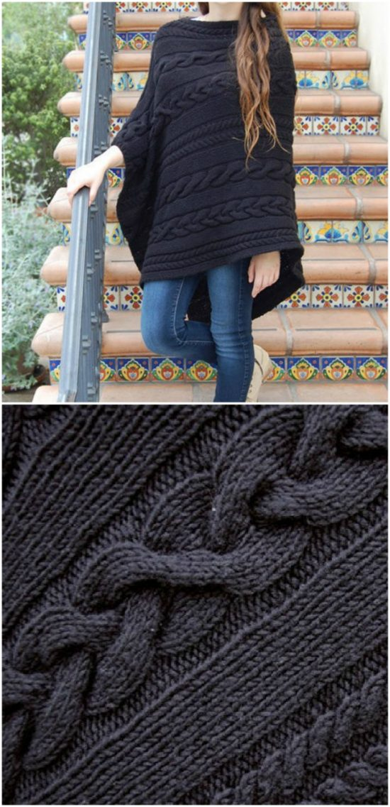 Knitted Poncho Patterns With Video Tutorial For Beginners Advanced