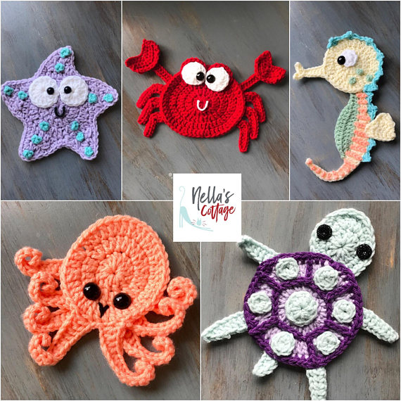 Crochet Animal Appliques Patterns All The Best Ideas