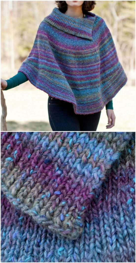 Knitted Poncho Patterns With Video Tutorial For Beginners ...