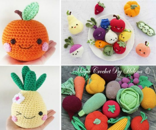 Amigurumi Vegetable Patterns : Admire these adorable fruits and vegetables free crochet patterns