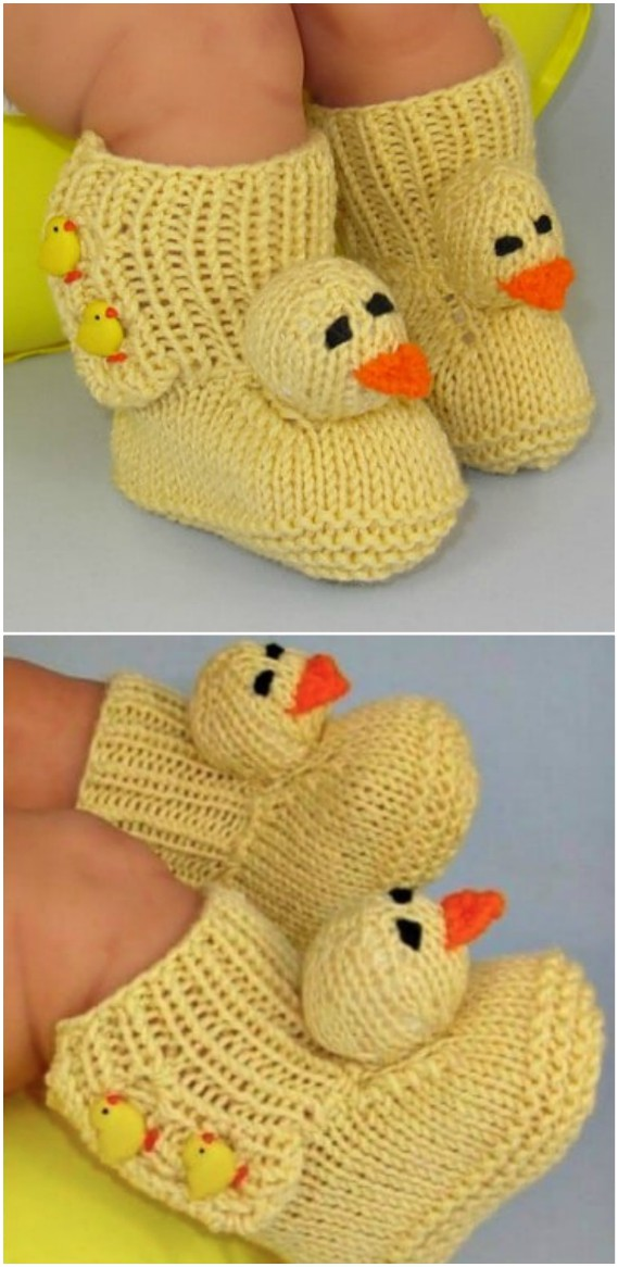 These Knitted Duck Booties Are A Fabulous Free Pattern The Whoot