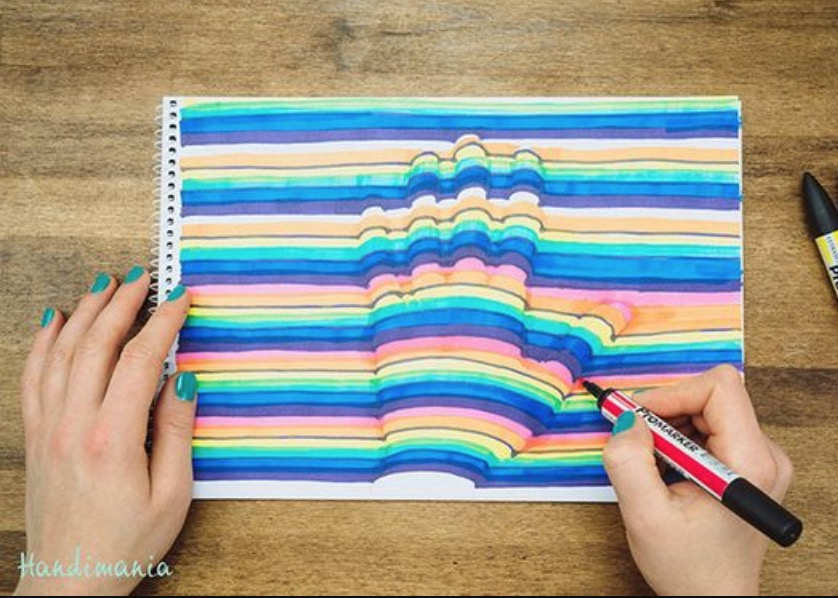 3D Hand Art Step By Step Instructions Video Tutorial