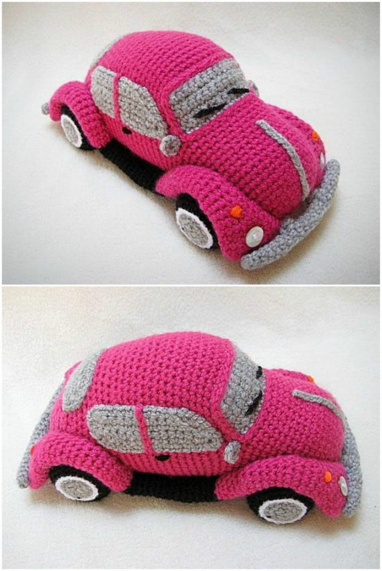 Crochet Tissue Holder Beetle And Camper Patterns | 822x550