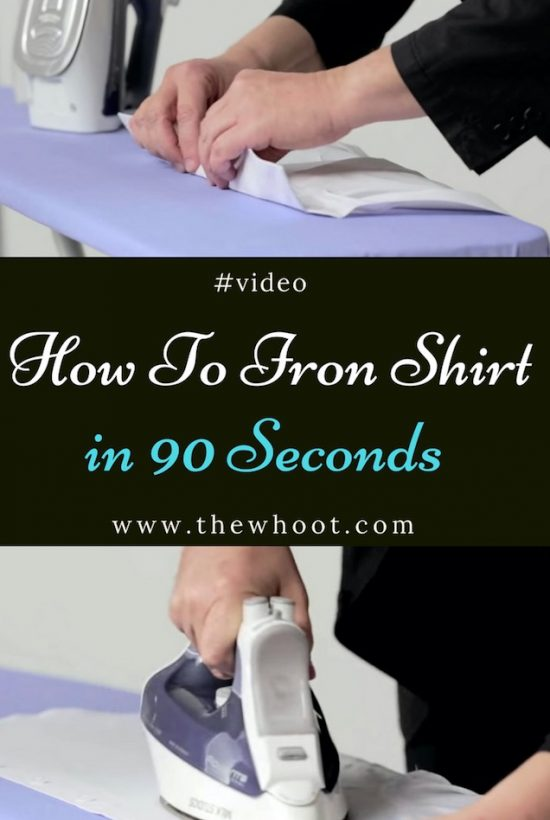 how to iron shirt in 90 seconds