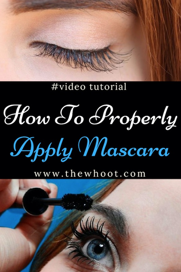 properly apply mascara