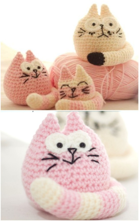 Crochet Valentine Cat Amigurumi Free Patterns | 874x550