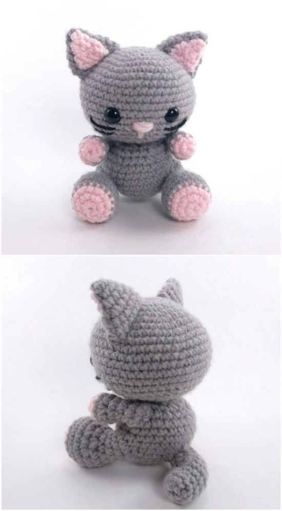 Crochet kitty cat, amigurumi kitty cat, stuffed kitty cat, knit ... | 997x550