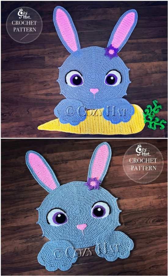 CROCHET PATTERN Josefina and Jeffery Elephant Rug PDF Crochet | Etsy | 902x550