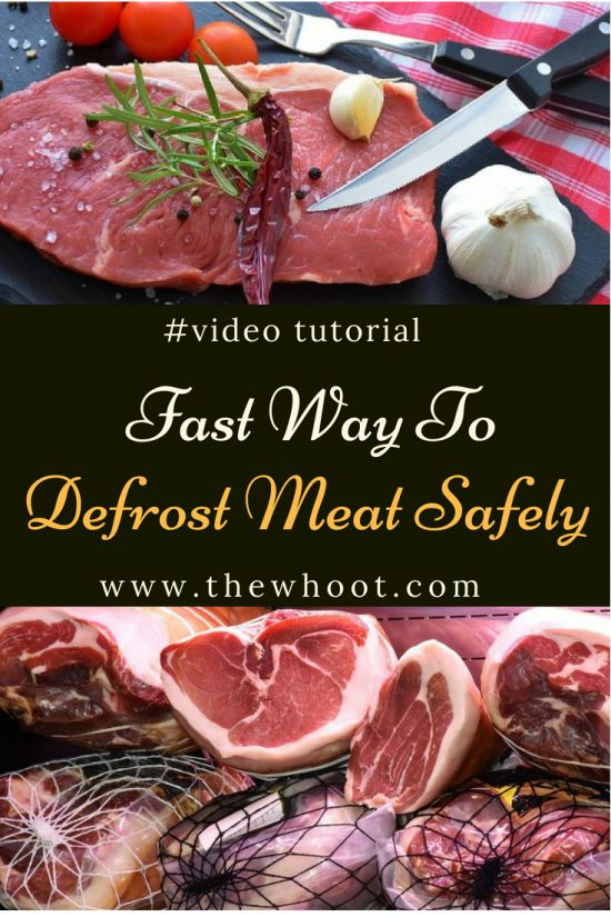 fast way to defrost meat