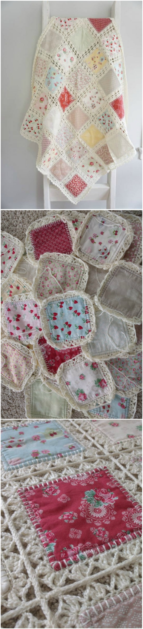 Fabric Crochet Quilt Is The Project Youve Been Looking For