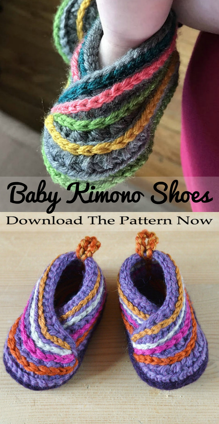 We Were So Excited To Find These Incredibly Adorable Crochet Kimono Baby Shoes