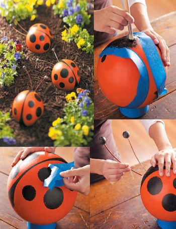Bowling Ball Ladybugs And Bees
