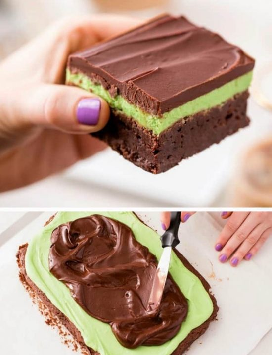 Baileys Boozy Chocolate Mint Brownies