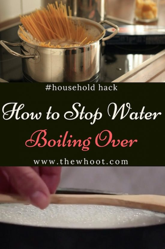 stop water boiling over