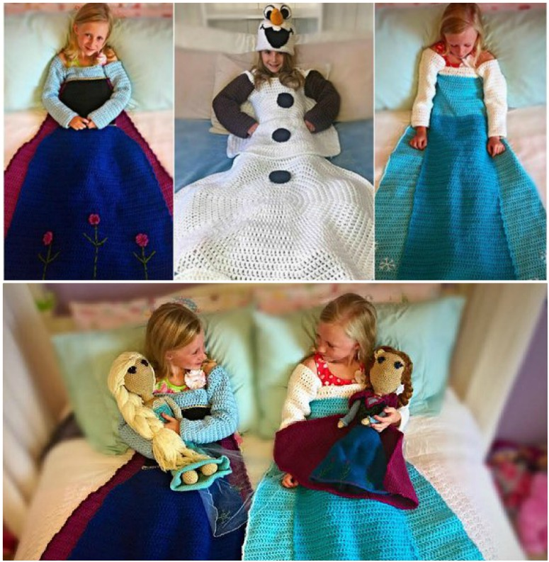 Crochet Amigurumi of Princess Anna and Elsa from the movie Frozen ... | 793x775