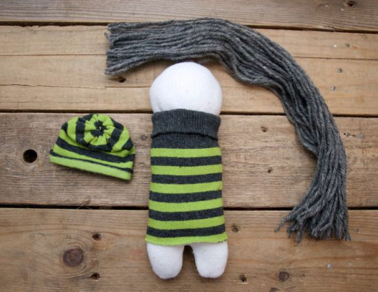 how to make a sock doll