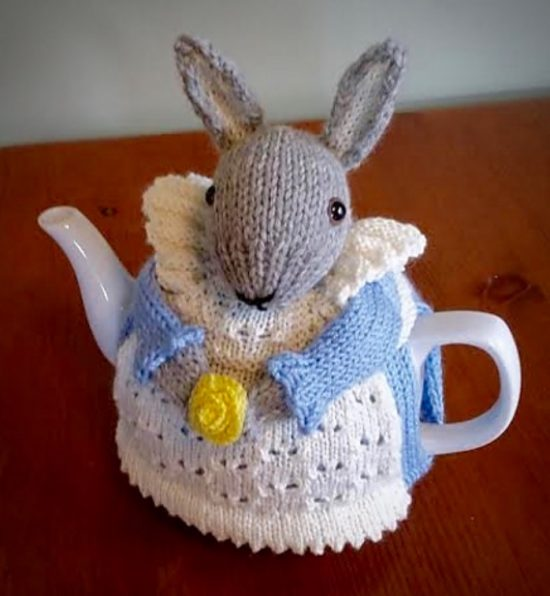 Mrs Bunny Rabbit Tea Cosy Is The Sweetest Free Pattern The Whoot