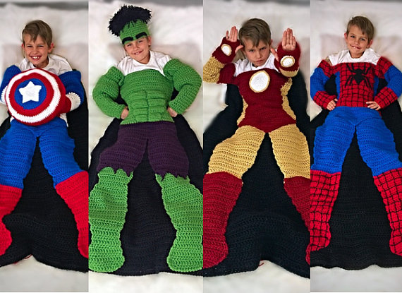 superhero crochet blanket pattern