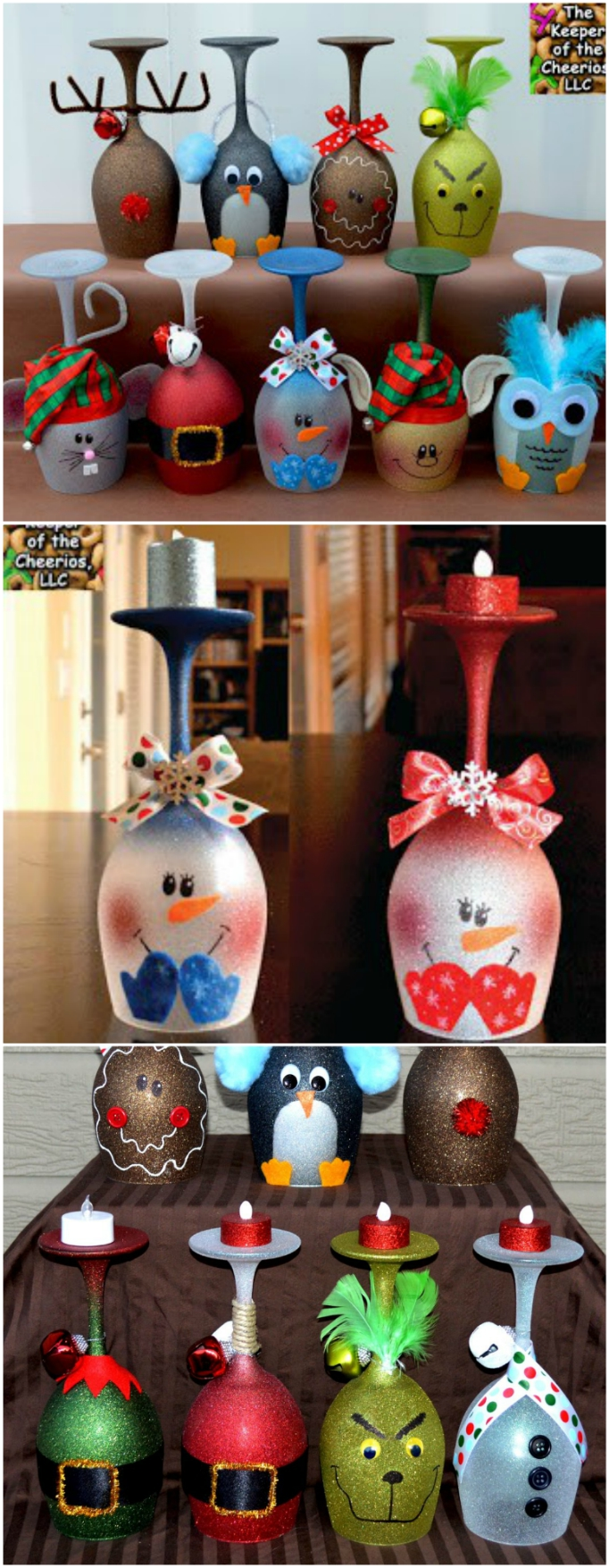 Christmas Wine Glass Candle Holders Ideas The Whoot