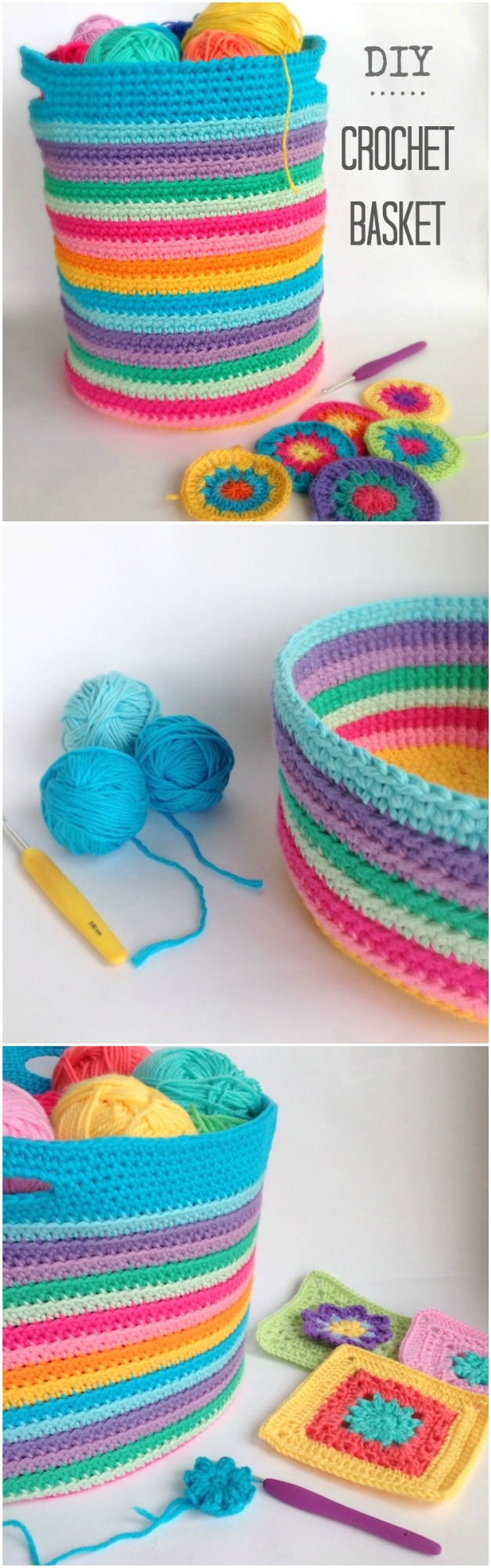 Diy Crochet Storage Basket Free Pattern The Whoot