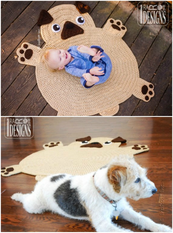 crochet animal rugs by irarott