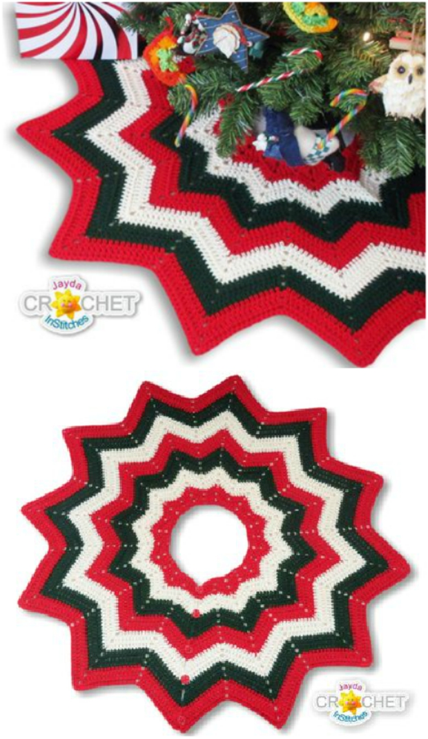 Crochet Granny Square Tree Skirt Pattern