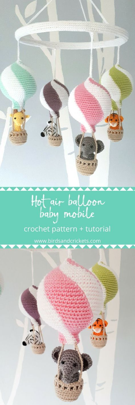 crochet hot air balloon mobile pattern