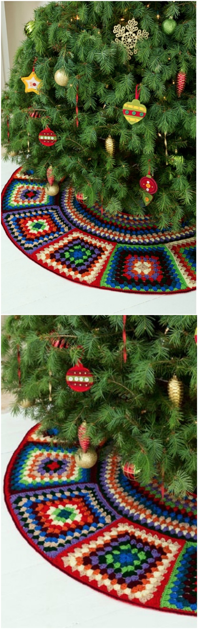 moogly also has this beautiful holiday tree skirt available as a free pattern on their site you can get the details here