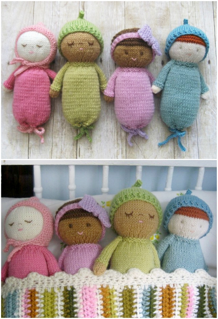 The Most Adorable Knit Baby Doll Patterns The WHOot Classy Crochet Baby Doll Pattern