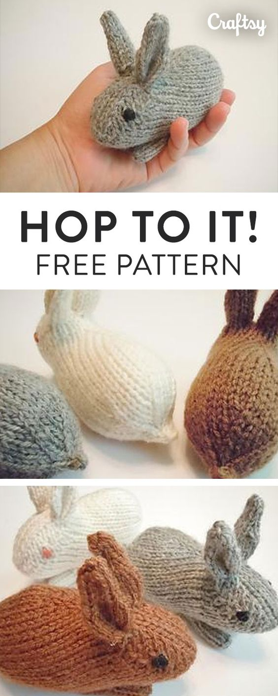 Beautiful Knitted Bunny Rabbit Free Patterns To Make The