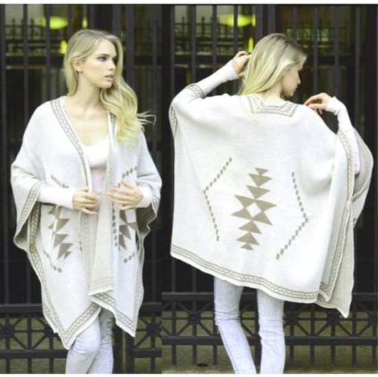 diamond back poncho