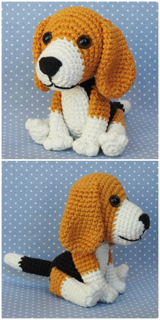 Amigurumi Pattern Beagle Dog Amigurumi Crochet – Step by Step ... | 1100x550