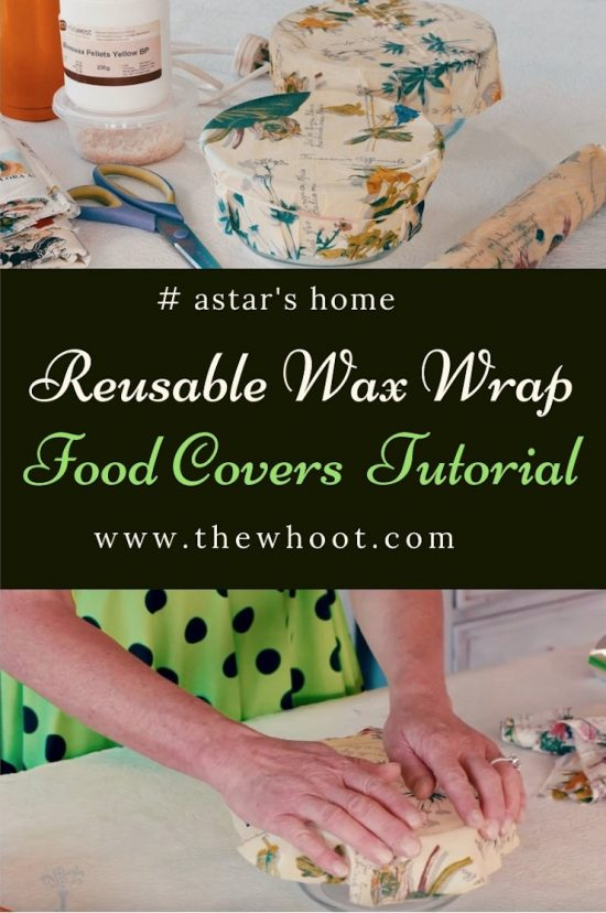 how to make reusable wax wrap food covers