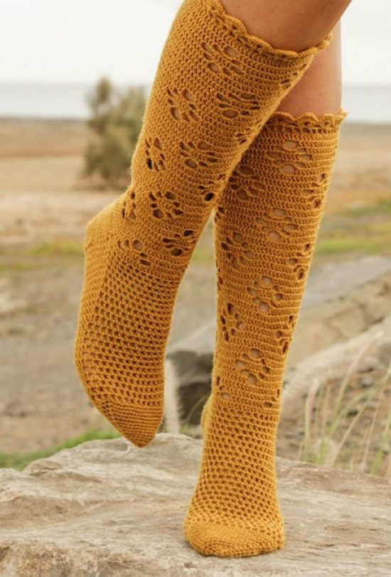 knitted knee high socks free pattern