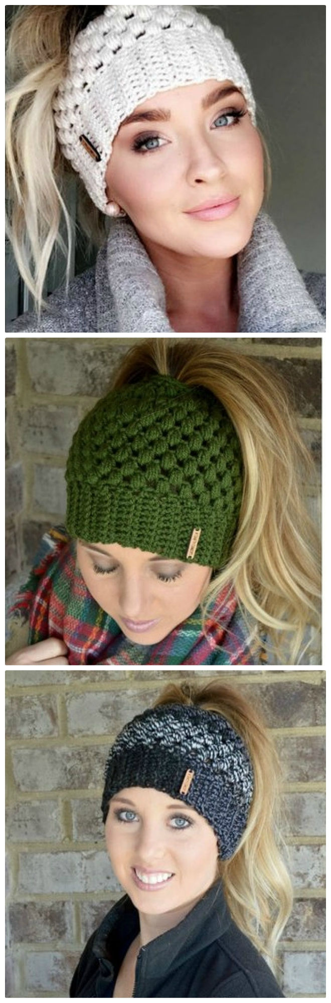 Messy Chunky Beach Waves Easy Tutorial: Crochet Chunky Messy Bun Hat Pattern Is A Must Make