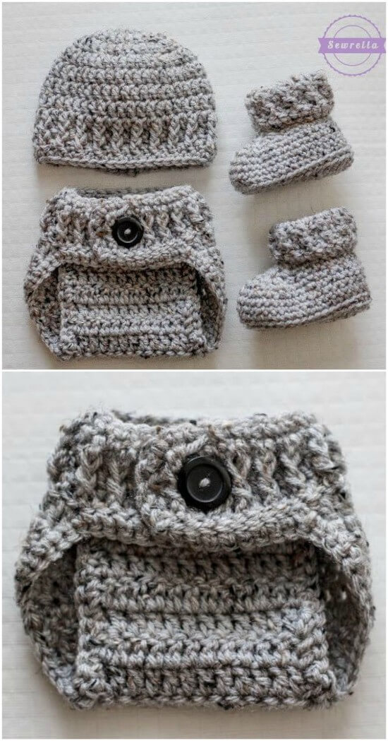 Newborn Baby Boy Elephant Hat with Matching Diaper Cover Set~Photo ... | 1049x550